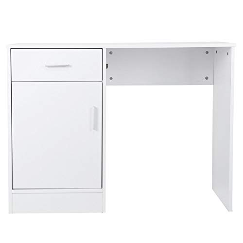Les-Theresa Computer Desk Study Office Storage PC Laptop Writing Table with Drawers for Home Office