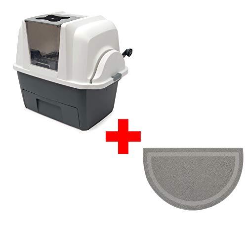 Catit Smart Sift selbstreinigende Katzentoilette (Katzentoilette + Vorlegematte)