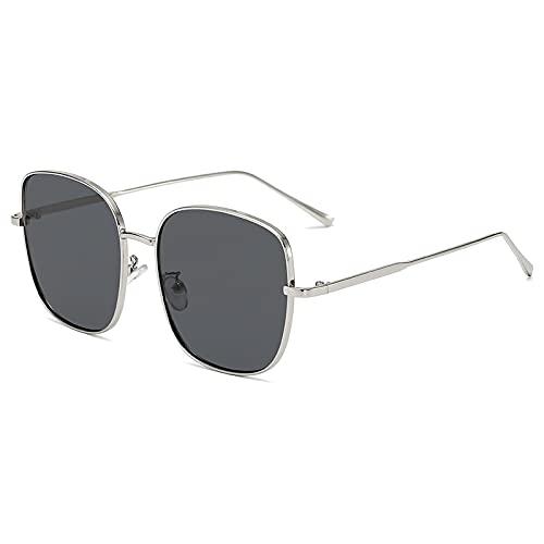Sunglasses Gafas de Sol de Moda Gafas De Sol Cuadradas Retro para Mujer, Gafas De Sol Negras Y Rosas De Diseñador, Gafas