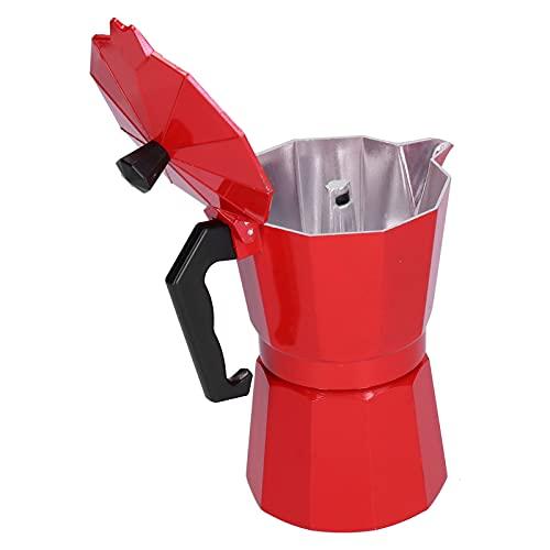 SALALIS Cafetera casera, hervidor de café Durable de Aluminio de la disipación de Calor 300ml para el hogar