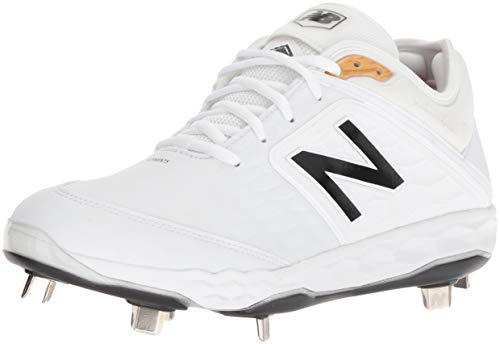 New Balance Men's 3000v4 Baseball Shoe, White, 10.5 D US