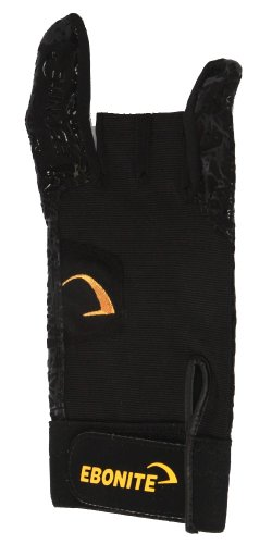 Ebonite Herren Left React-R Bowling-Handschuh, Links, Schwarz, Größe S, S