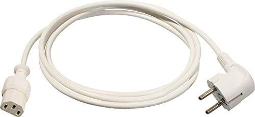 as - Schwabe 70870 Kaltgeräte-Zuleitung 70 C, 2m H05VV-F 3G0,75, weiß, IP20 Innenbereich