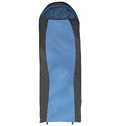 CampAir Saco de Dormir para 3 Estaciones - para Clima cálido y frío, Ripstop, Azul