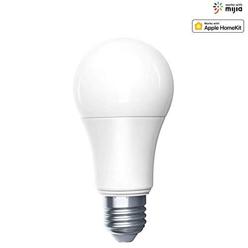 Aqara Zigbee Smart LED Birne Einstellbare Helligkeit und Farbtemperatur Intelligente Lampe Siri Voice Control Funktioniert mit Mijia APP und Apple HomeKit (1 Birne)