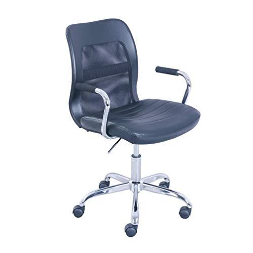 Dtnlg Einfacher Bürostuhl Hub- und Drehexplosionsgeschützte Rod Stuhl Rad Computer Stuhl Büro Besprechungsraum Haus Horn Chair 53 * 53 * 107cm