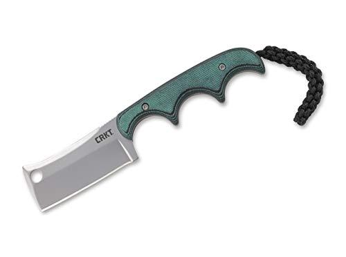 CRKT Unisex– Erwachsene Minimalist Cleaver Feststehendes Messer, Grün, 13 cm