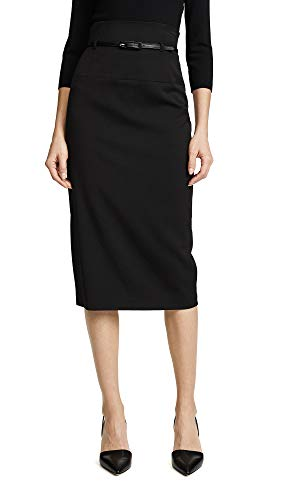 Black Halo Women's High Waisted Pencil Skirt, Black, 4