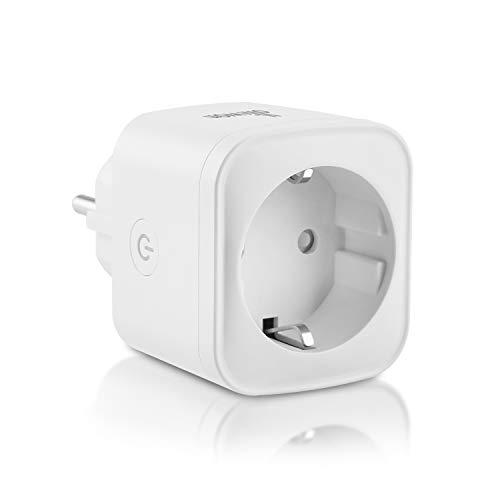 Olliwon WLAN Smart Steckdose, kompatibel mit Amazon Alexa Google Home und IFTTT App Fernsteuerung 16A max intelligente Plug Stecker