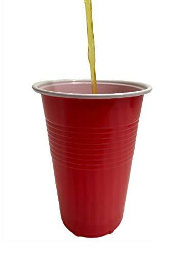 SPIPROTECTOR Becher einweg 0,5 L Partybecher aus Kunststoff rot - 100er Pack 500 ml