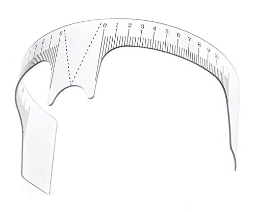 Create Idea Fashion Frauen Augenbrauenpflege Schablone Shaper Lineal Werkzeug Make-up Wiederverwendbar