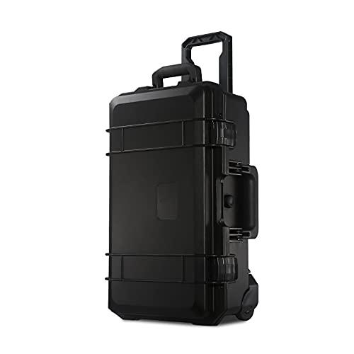 Cajas de herramientas Caja de herramientas duras con ruedas y manija una maleta grande con forro de división de espuma para equipos de precisión instrumento multi-color Almacenamiento multifunción