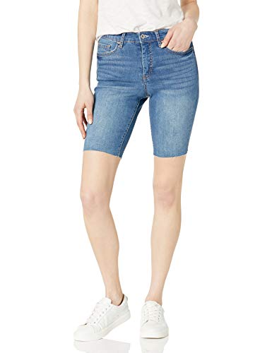 Jessica Simpson Women's Adored High Rise Slim Bermuda Short, Get On with It, 32 Regular