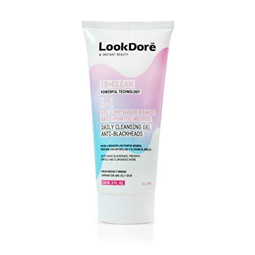 Lookdoré IB+ Clean Gel Limpiador Facial 3 en 1 -Quita espinillas y puntos negros, antiacné y matificante antibrillos de la piel grasa