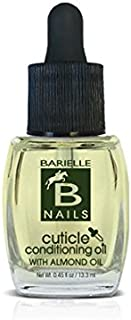 Barielle Cuticle Conditioning Oil with Almond Oil, Vitamin E and Tea Tree Oil .45 Ounce - for Dry Cuticles, Deeply Moisturizes, Nourishes Protects and Fortifies Nails