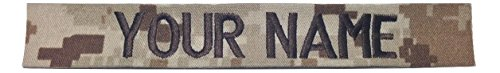 JSM Auto Desert MARPAT Name Tape or US Marines USMC Tape, with Fastener or Sew-On (Without Fastener)