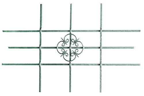 GAH-Alberts 553548 Fenstergitter Salzburg - Fenster-Gitter für außen als Einbruchschutz - feuerverzinkt - 1140 x 690 mm, kürzbar bis 590 x 390 mm