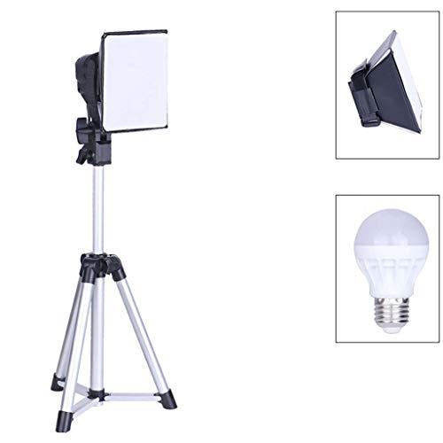 17 inch vierkante LED fill-licht met statief en houder voor mobiele telefoon, E27-lichtbron voor fotograferen, make-up, fotografie en YouTube-video's.
