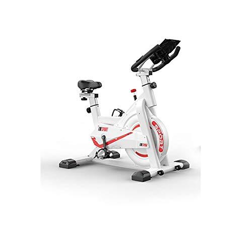 GWXSST Bicicleta de Spinning Inicio Cubierta Aerobic silencioso de Bicicleta de Ejercicios de Fitness Artículos Deportivos Bicicletas Bicicletas Bicicletas Mini Bike (Color : White)