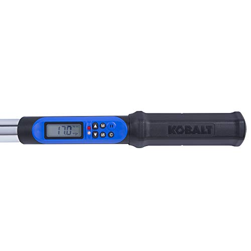 Kobalt 856839 1/2-Inch Drive 12.5-250 Foot-Pound Programmable Electronic Torque Wrench with Torque-Angle