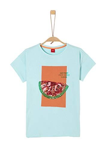 s.Oliver Junior Mädchen 401.10.005.12.130.2036976 T-Shirt, 6066 Bleached Aqua, M/REG