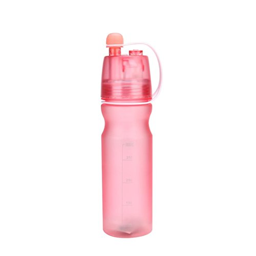 HighlifeS Leak Proof BPA Free Eco-Friendly Plastic Drink Beverage Best Water Bottles for Travel/Hiking/Camping/Outdoor/Running/Gym (Pink)