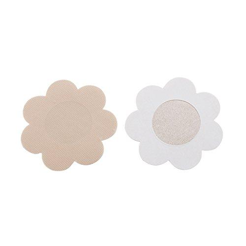 10 Paare Blütenblatt Selbstklebende Pasteten Nippel Einweg Abdeckung Aufkleber - Aprikose, one size