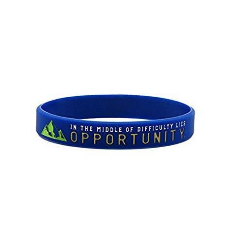 Xi-Link Pulsera De Silicona Slogan Inspirador Oportunidad De Sueño Cualquier Persona Posible Pulsera Pulsera (Color : Opportunity)