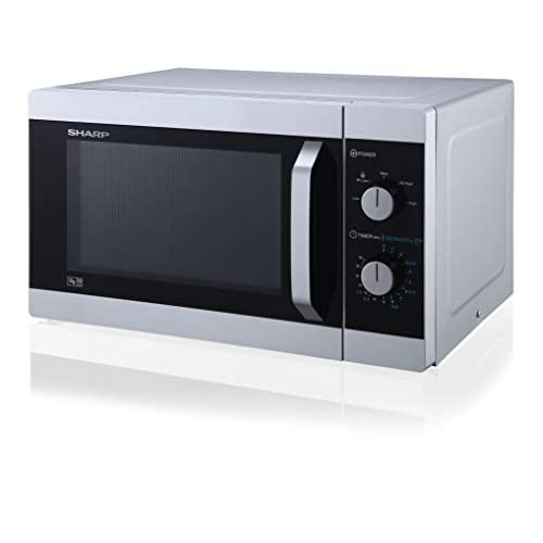 31TQS15v5sL. SS500  - Sharp YC-MS31U-S 900W Solo Microwave Oven with 23 L Capacity, 5 Power Levels & Defrost Function – Silver