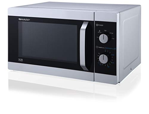 31TQS15v5sL - Sharp YC-MS31U-S 900W Solo Microwave Oven with 23 L Capacity, 5 Power Levels & Defrost Function – Silver