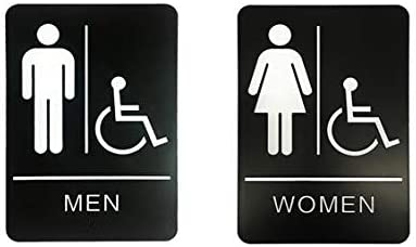 Alpine Industries Men's Women's Clearance SALE Limited time Restroom Signs of 2 Max 60% OFF - Dur Set