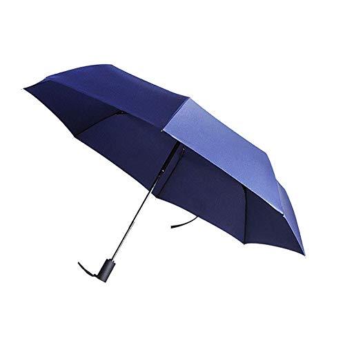 Paraguas Paraguas Paraguas de Viaje Compacto a Prueba de Viento, Paraguas Plegable Que se Puede Abrir y Cerrar automáticamente, Compacto, Adecuado para Mochila con Bolsa de Golf