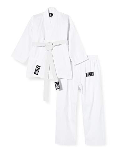 Blitz Sport Karate Kimono, Bambino, Bianco, 140 cm