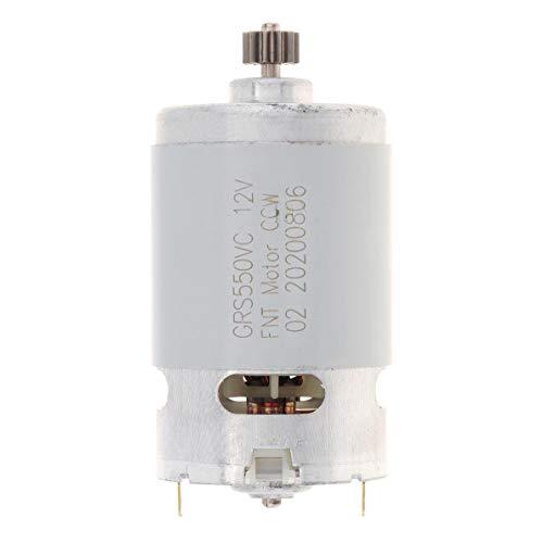 CROSYO 1 szt. silnik RS550 10,8 V 12 V 14,4 V 16,8 V 18 V 21 V DC z dwoma prędkościami 11 zębów i wysokim momentem obrotowym do wiertarko-wkrętarki akumulatorowej (kolor : 11 zębów)