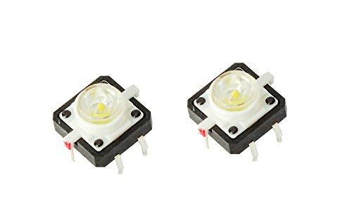 MissBirdler NEU! LED Druckknopf Tactile Button Switch Taster weiß für Arduino Raspberry Pi