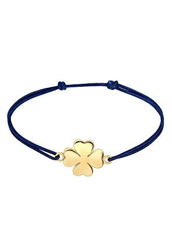 Elli Armband Elli Damen Armband mit Kleeblatt Symbol Glücksbringer in 925 Sterling Silber