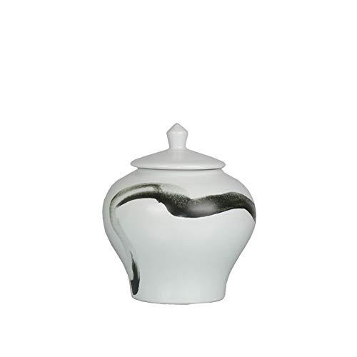 BRFDC Contenitori per Cereali Lattine di Storage Tradizionali lattine lattine sigillate spuntino Caramelle Scatole casa Decorazione del Salone (Colore: Bianco) (Color : A)