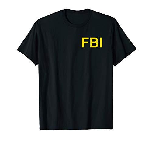 FBI Shirt, Federal Bureau of Investigation Brust Logo Agent T-Shirt