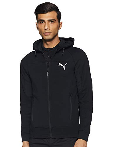 PUMA Herren Trainingsjacke EVOSTRIPE Hooded, Black, XL, 581486