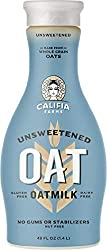 Califia Farms Unsweetened Oatmilk, 48 Oz | Whole Rolled Oats | Dairy Free | Vegan | Plant Based | No