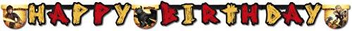 Happy Birthday Banner * DRAGONS - DRACHENZÄHMEN * für Kindergeburtstag und Motto-Party // Girlande Wimpelkette Kinder