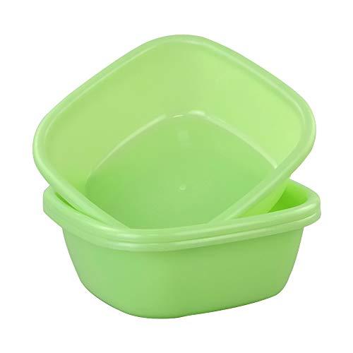 Annkky Bacinella Piccola Plastica, Quadrato Bacinella, Verde, Set Di 3 Ciotole
