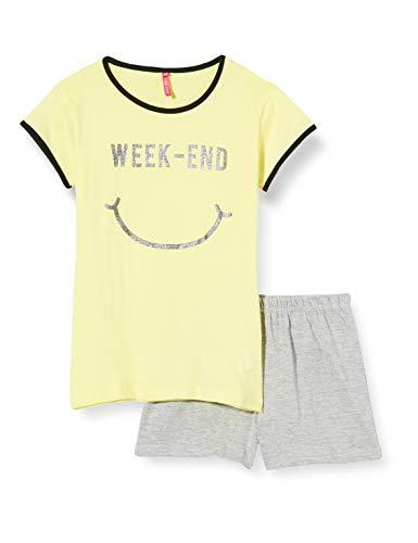 Lina Pink EF.HAP.PSH Conjuntos de Pijama, Amarillo (Jaune/