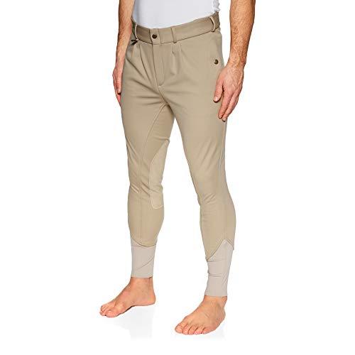 Derby House Elite - Pantaloni da equitazione invernali da uomo Beige W30