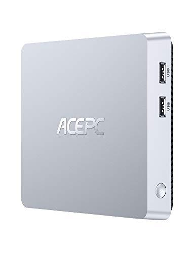 Mini-PC, lüfterloser Mini Computer Windows 10 Pro Intel Atom Z8350 8 GB DDR3 / 128 GB eMMC Desktop Computer Unterstützung 4K HD, HDMI + VGA-Ausgang, 2,4 G / 5 G WiFi, Bluetooth, Gigabit Ethernet