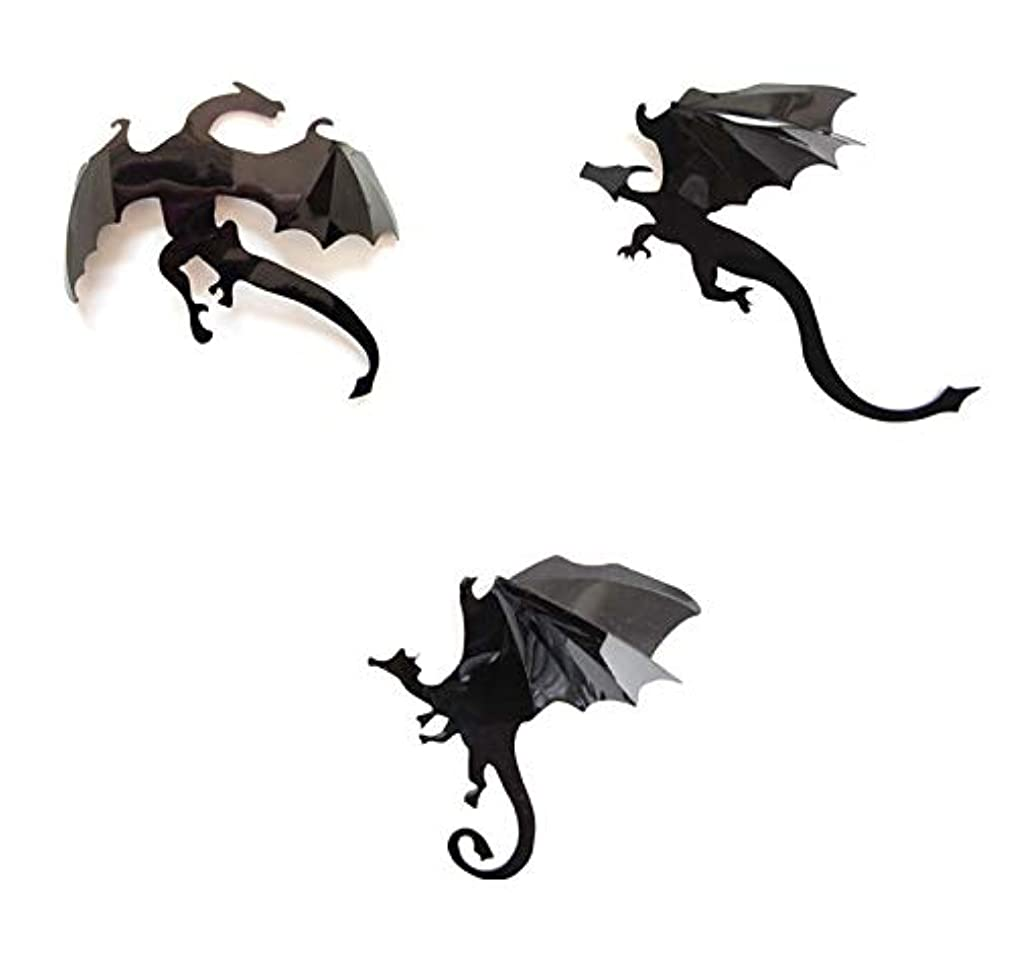 Zhuopin 14PCS 3D Gothic Dragons Wall Stickers Decal Removable Halloween Dragon Sticker DIY Wall Stickers for Party Supplies,Wall Decor,Home Decoration
