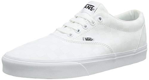 Vans Herren Doheny Sneaker, Weiß ((Checkerboard) White/White W51), 44.5 EU