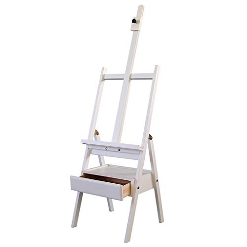 HYAN Folding Easel With Drawers Oil Painting Easel Box Multi-function Sketch Sketch Portable Student Bracket Drafting Tables ( Color : White )