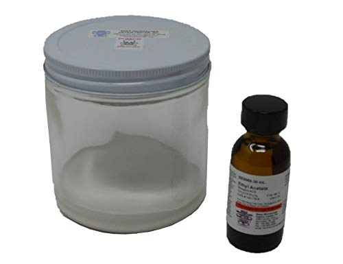 Glass Insect Collecting Jar, 16 oz, and Ethyl Acetate, 30 ml