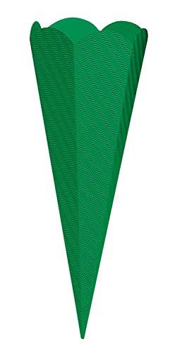 goldbuch 97852 Bastelschultüte 6-eckig, Rohling zum Selbsgestalten, Mit Steckverschluss zum Zusammenstecken, Schultüte 68 cm, Zuckertüte zur Einschulung, für Schulkinder & Berufsanfänger, Grün
